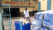 Kinshasa :  des hospices des vieillards et paroisses bénéficiaires additionnels d'une aide en vivres et matériels anti-Covid19 de la Caritas