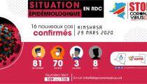 COVID-19 en RDC : 81 cas confirmés, dont 8 décès et 3 guéris au 29.03.2020, rapporte le Ministère de la Santé