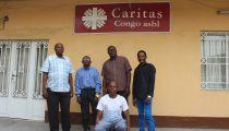 Caritas Congo Asbl en RD. Congo : Un stagiaire personne  avec handicap, sans complexe, s'intégrant et actif   à la Cellule de Communication