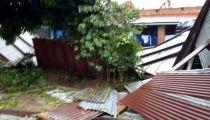 Ituri : des bâtiments endommagés par une forte pluie à Luma en Territoire de Mahagi
