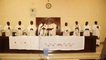 Echange des vœux au Secrétariat Général de la CENCO doublé du jubilé d'argent de l'Abbé Nshole