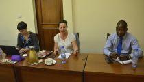 La nouvelle Coordinatrice pour l'Afrique de Caritas Espagne présentée au Staff de Caritas Congo Asbl