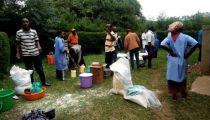 Nord-Kivu: PAM et Caritas remettent des vivres aux malades et familles des cas contacts d'Ebola